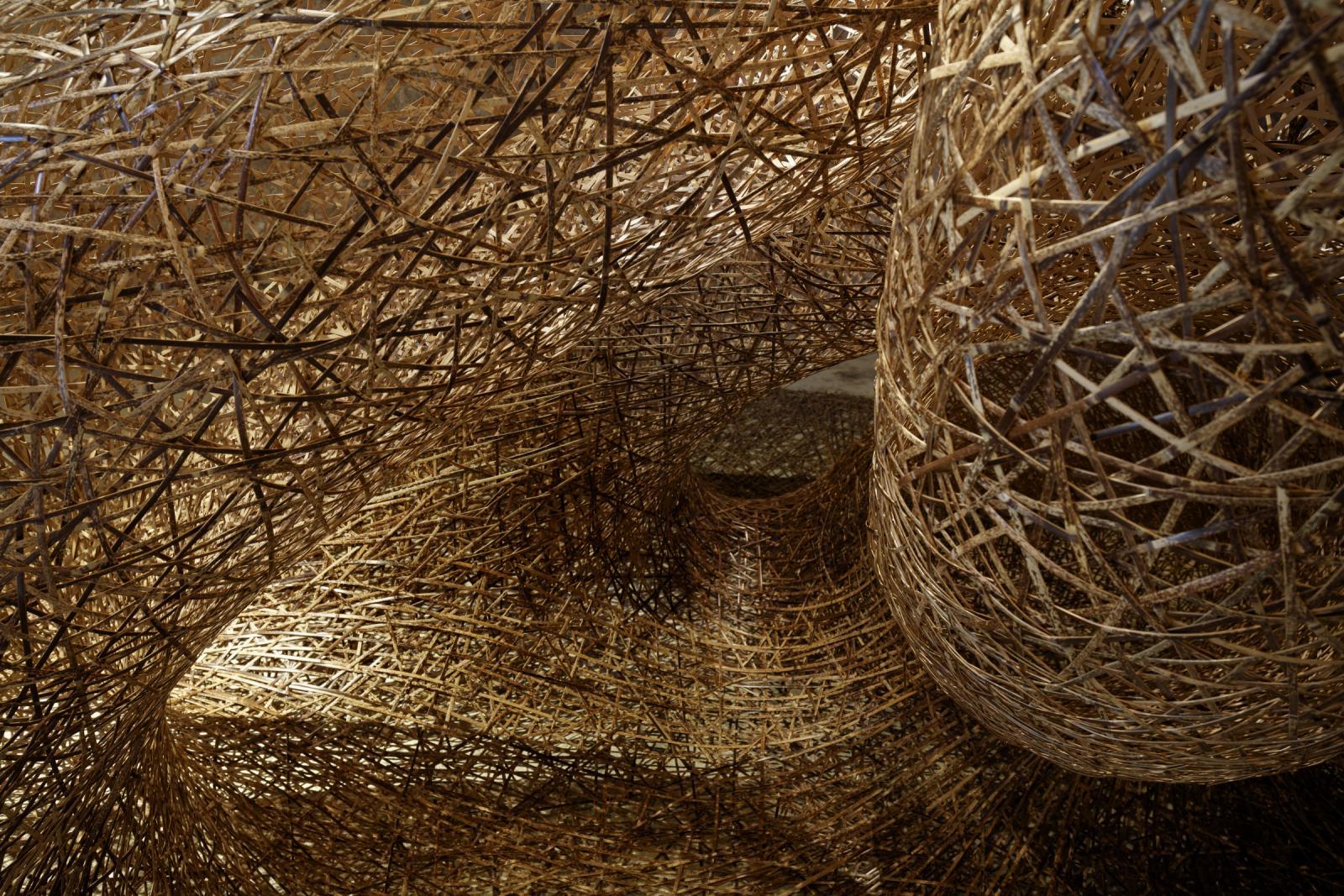Escultura de bambu