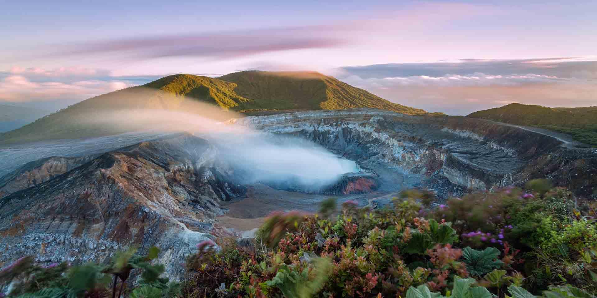 Cratera na Costa Rica