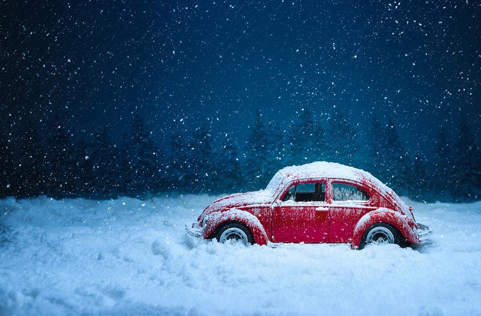 Fusca na neve