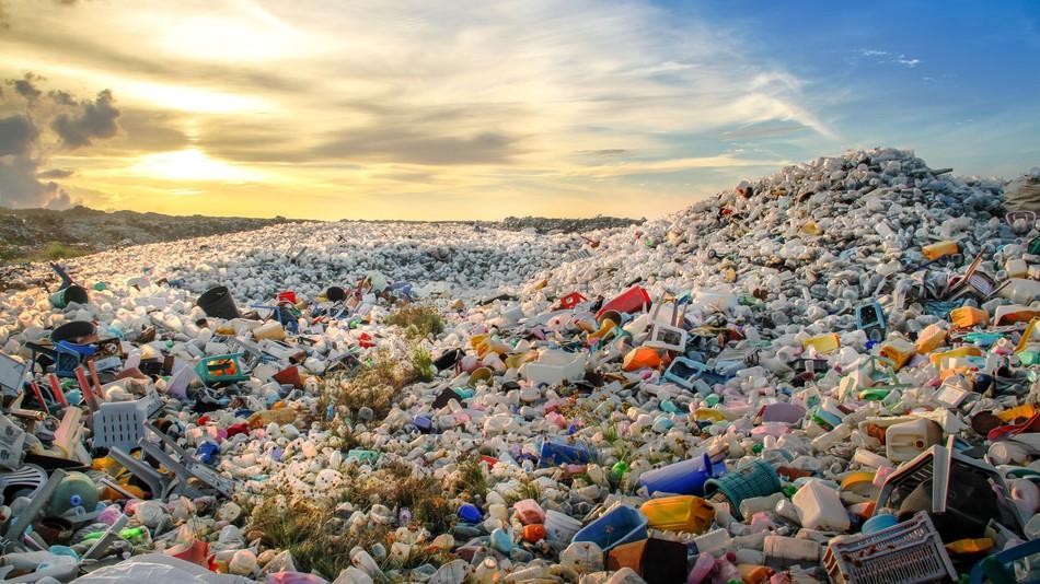 Plástico descartado