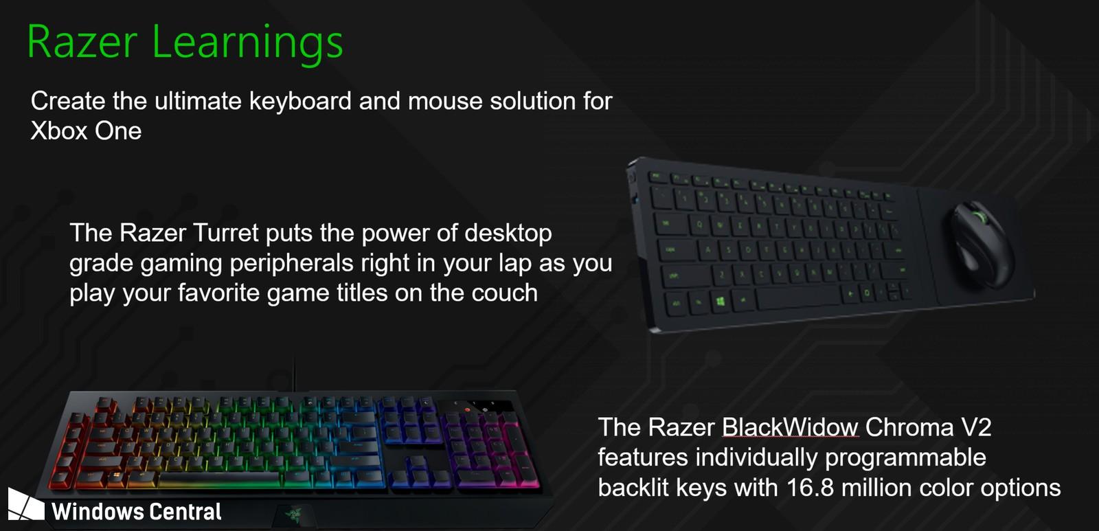 Rumor: Razer e Microsoft trabalham em suporte a mouse e teclado no Xbox One