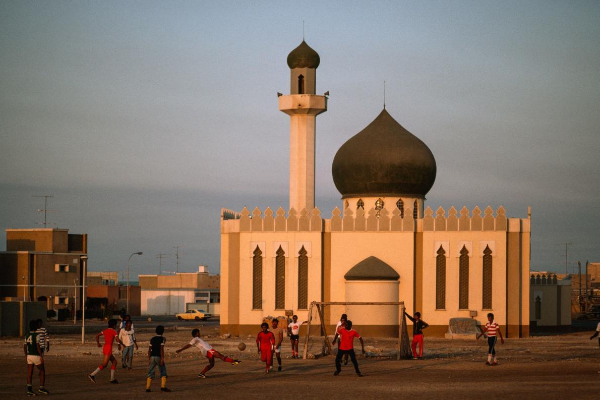 Futebol na mesquita