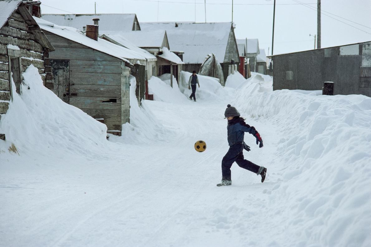 Futebol na neve