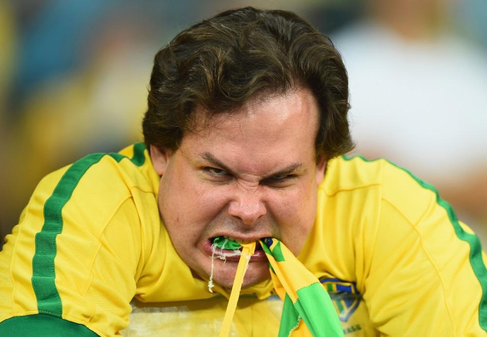 Torcedor brasileiro irado