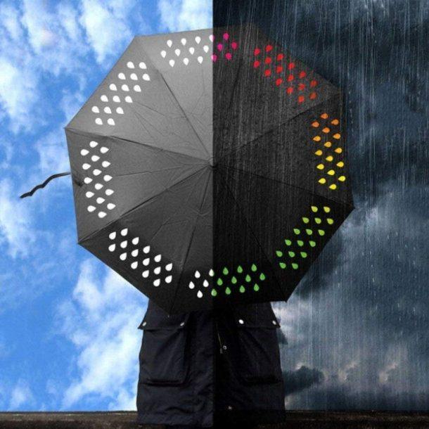 Guarda chuva colorido