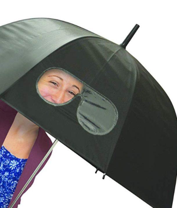 Guarda chuva com viseira