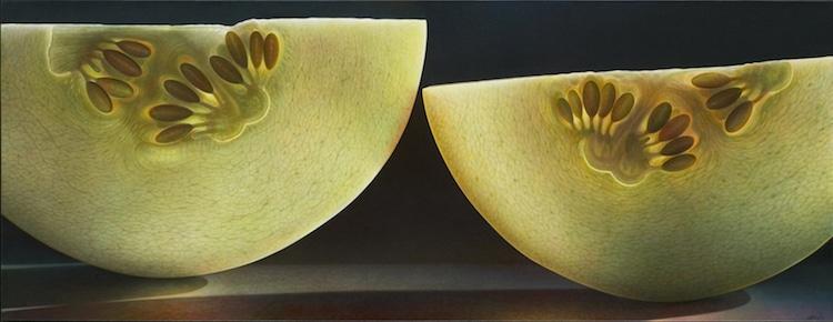 Melões fatiados