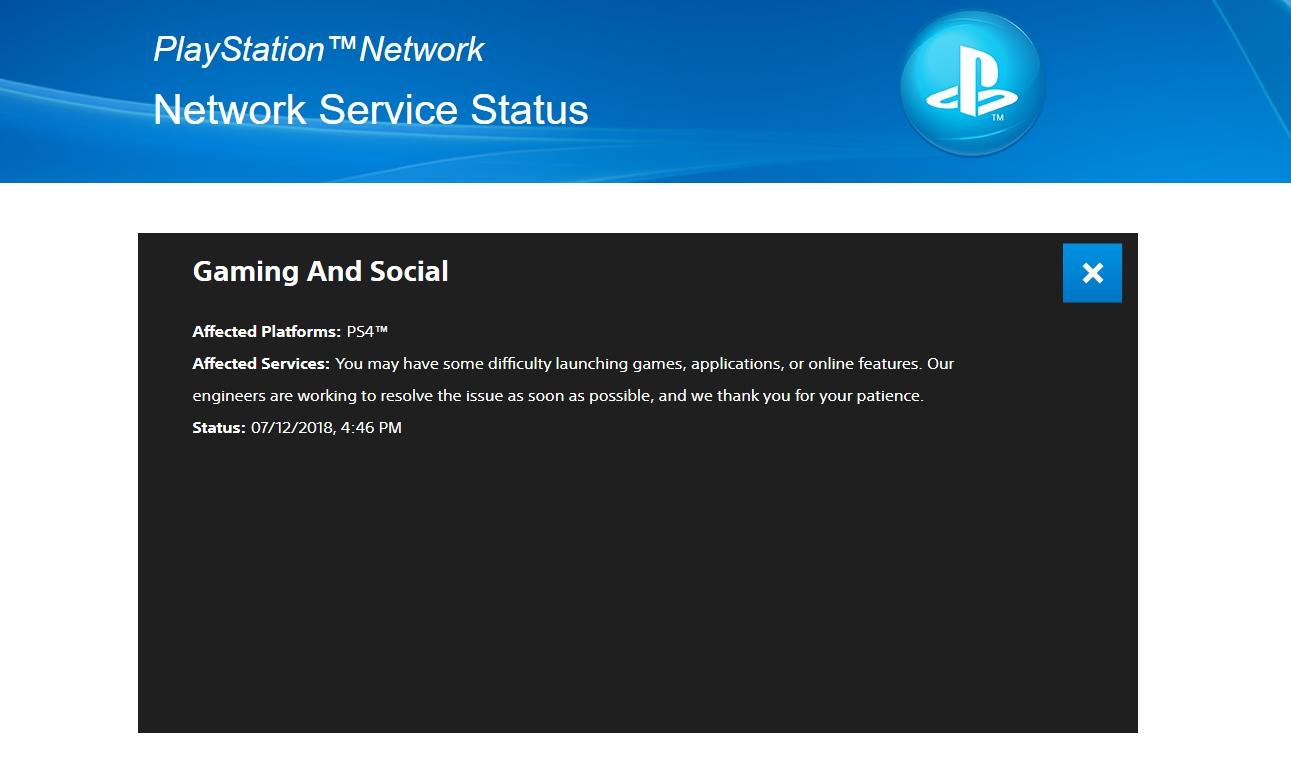 PSN está instável no PlayStation 4 e alguns jogos não podem ser jogados