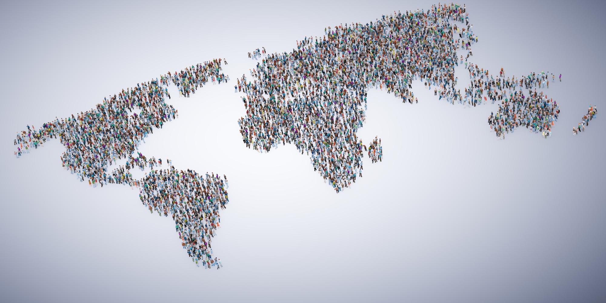 Muitas pessoas no planeta