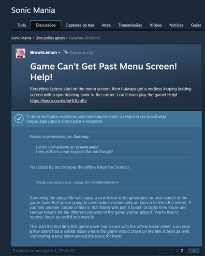 DLC de Sonic Mania sofre problemas por causa de sistema anti-pirataria