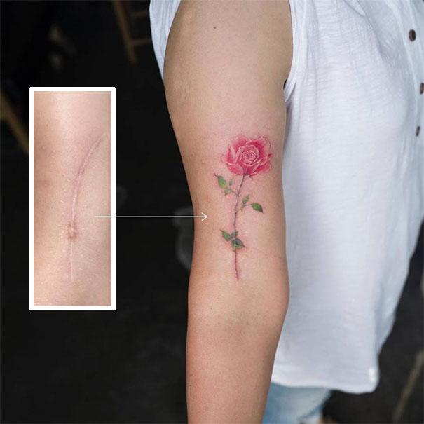 cicatriz e tatuagem
