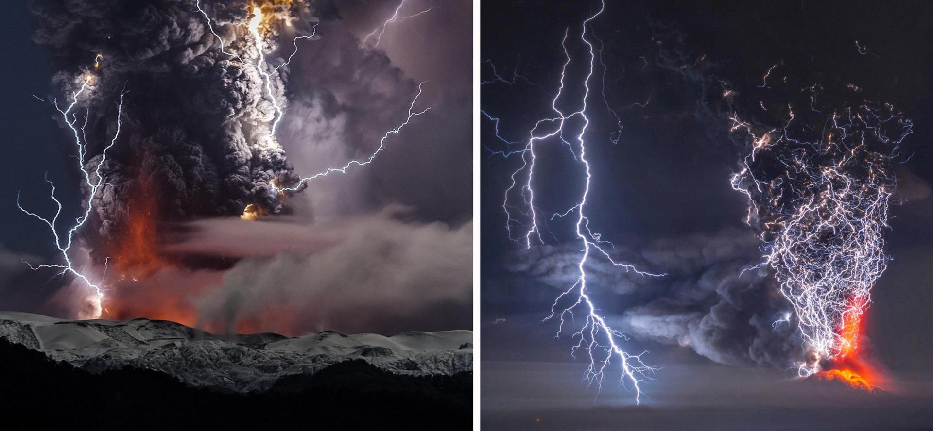 Erupções vulcânicas lindas