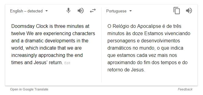 Mensagem do Google
