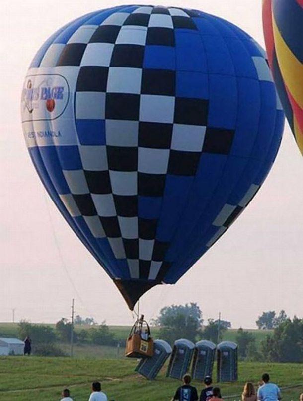 Acidente com balão