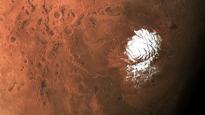Polo Sul de Marte