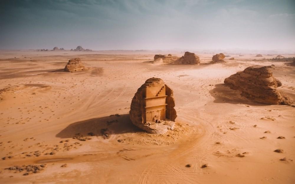 Ruínas no deserto