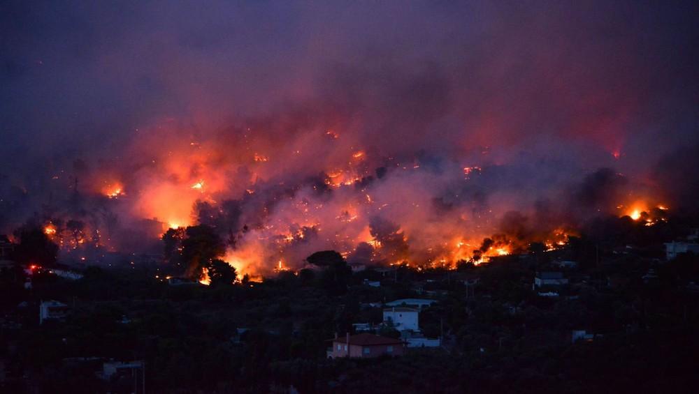 Fogo na Grécia