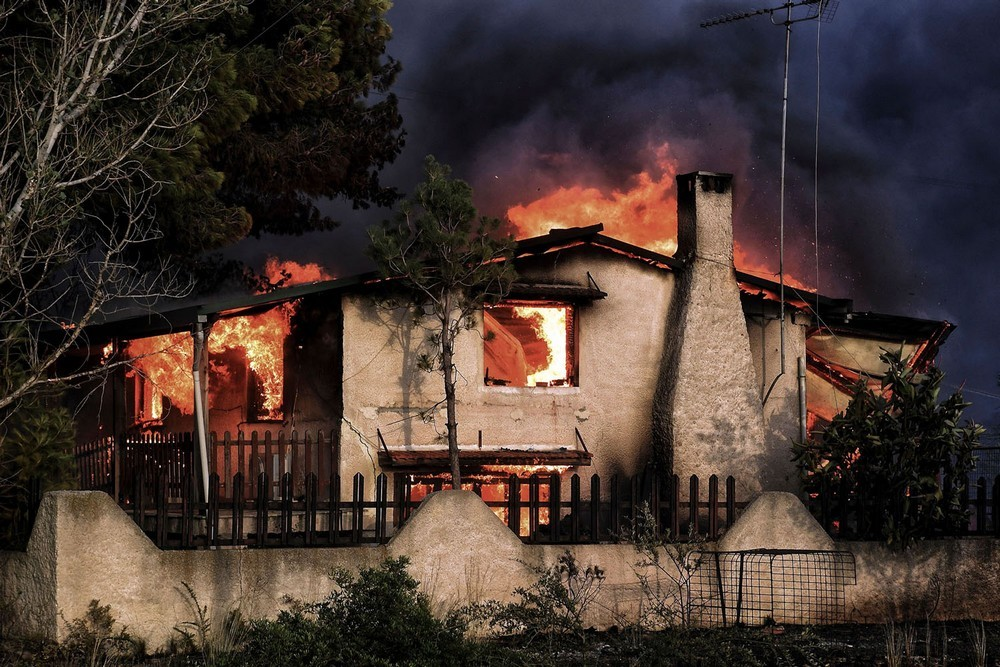 Grécia em chamas