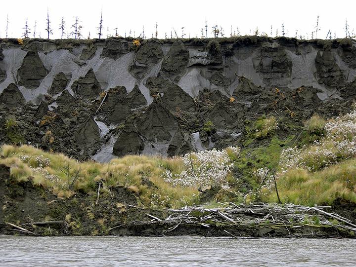 Permafrost derretido
