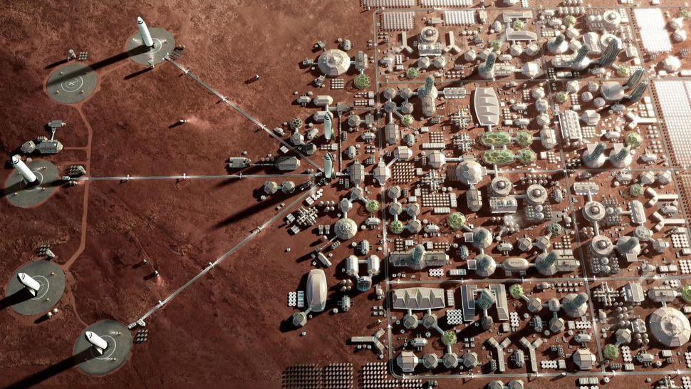 Projeto de colônia marciana