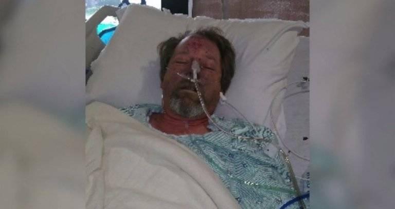 Homem hospitalizado