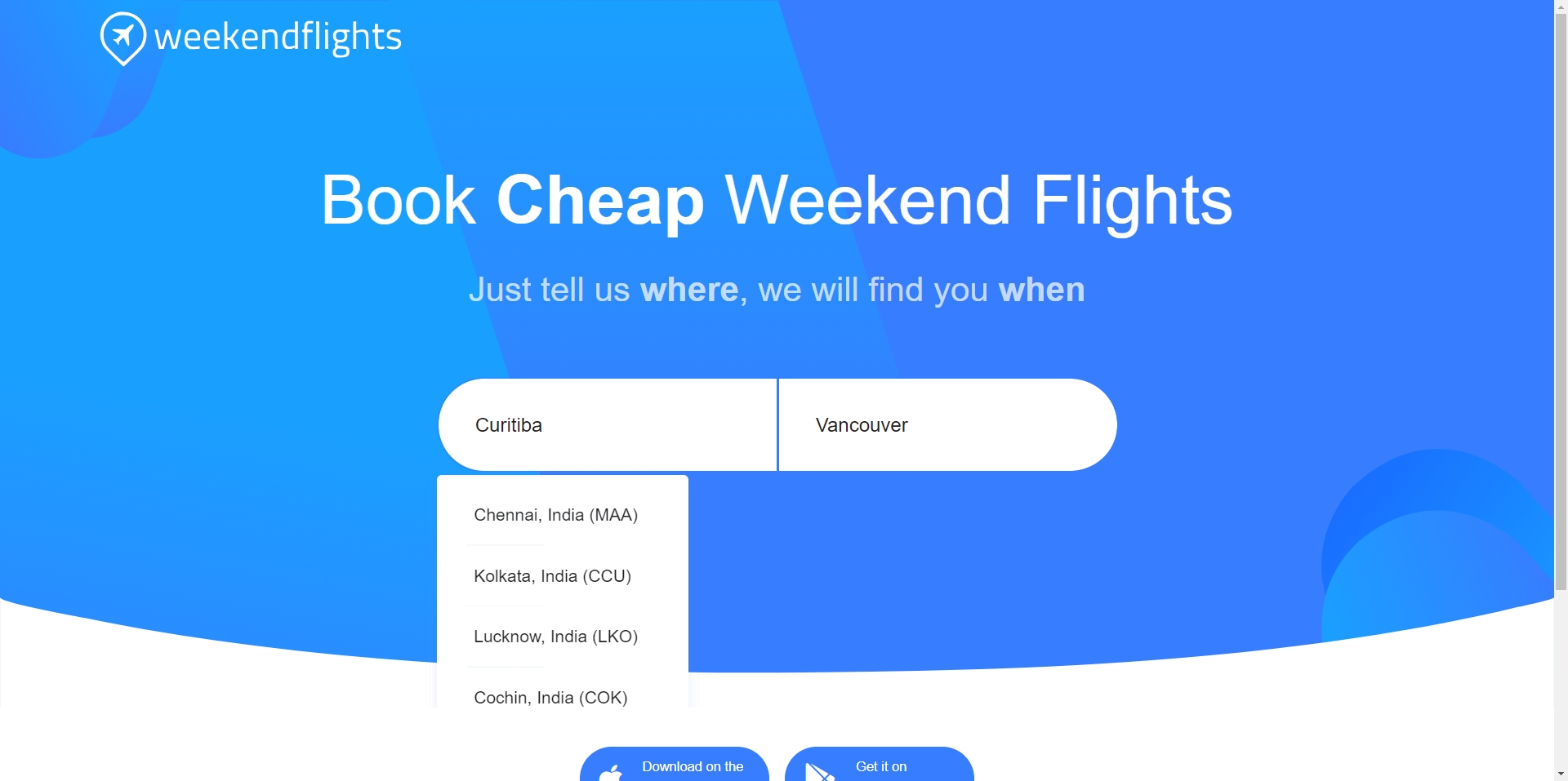 Weekendflights - Imagem 1 do software
