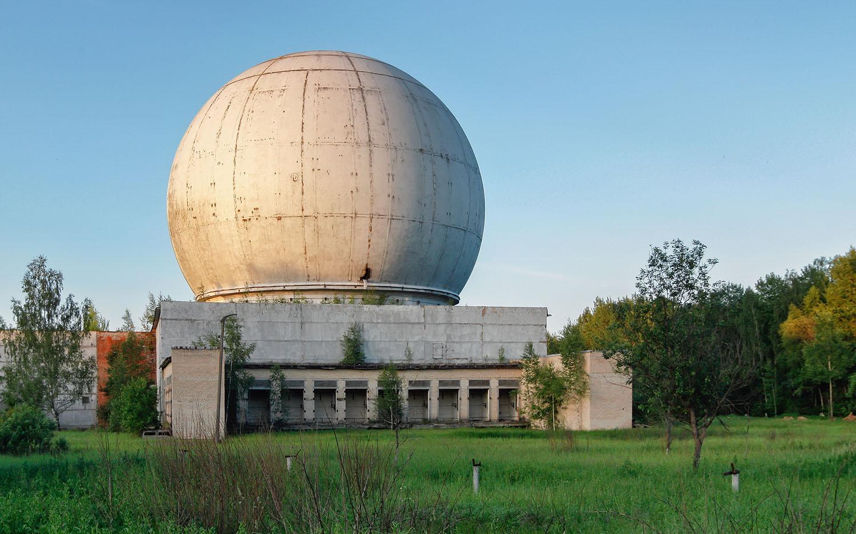 Antena de radar soviético