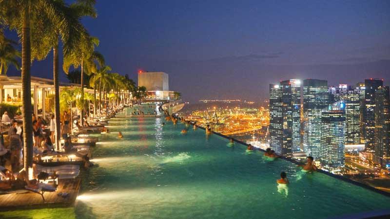 Piscina em Singapura