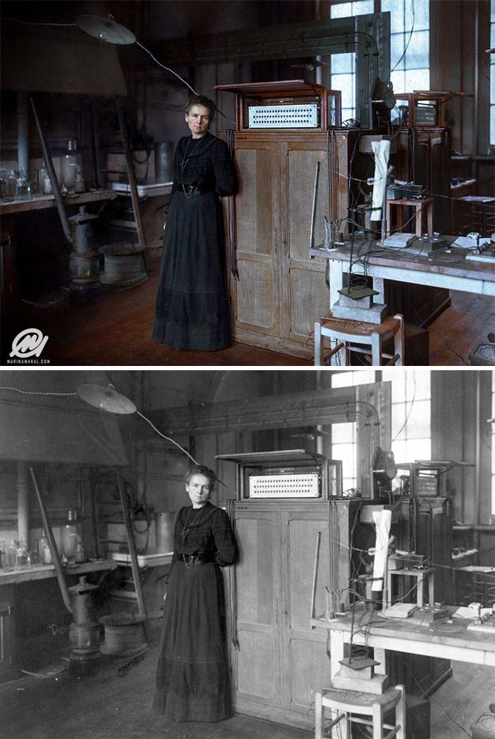A genial Marie Curie