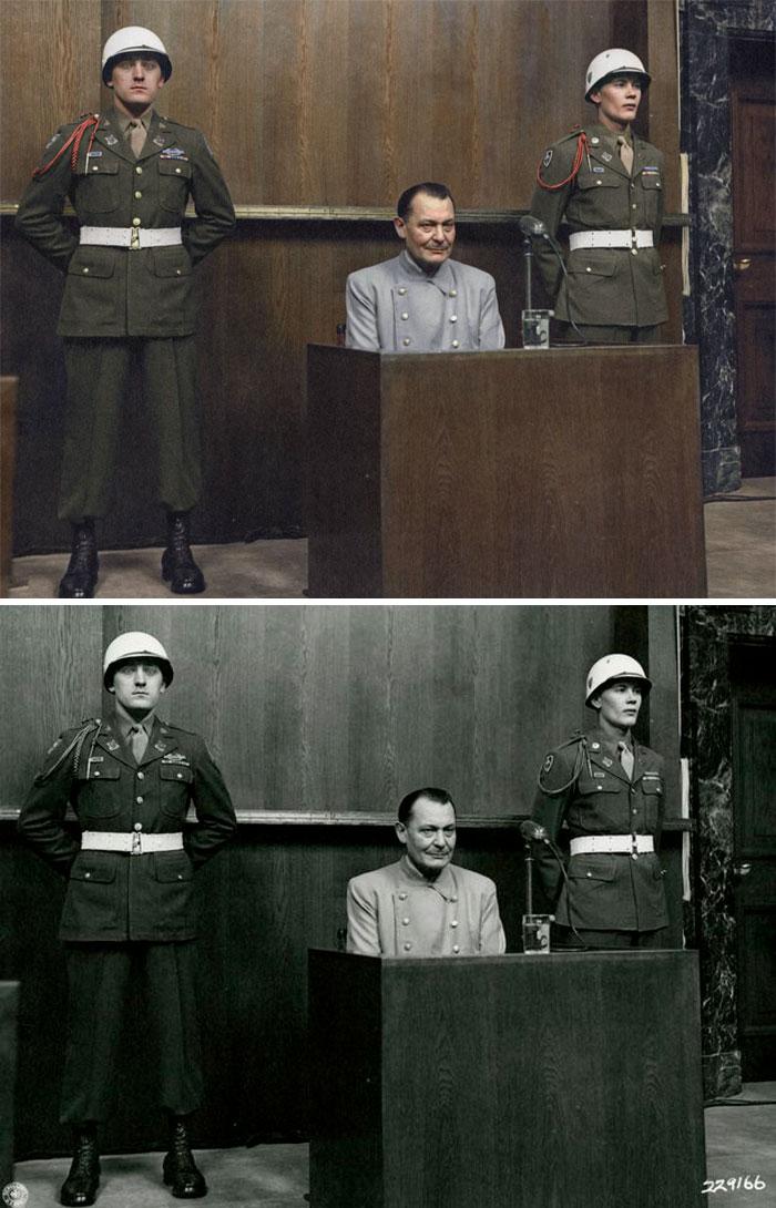 Nazista sendo julgado