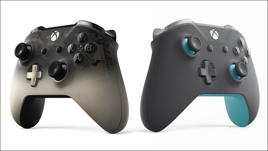 Lindíssimos! Confira os controles Grey/Blue e Phantom Black de Xbox One