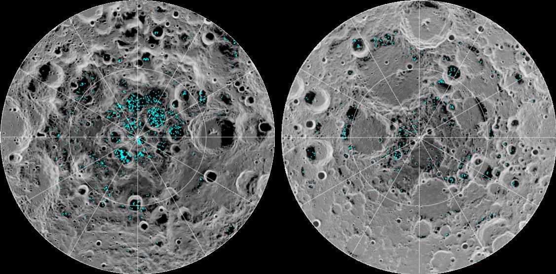 Identificação de gelo na Lua