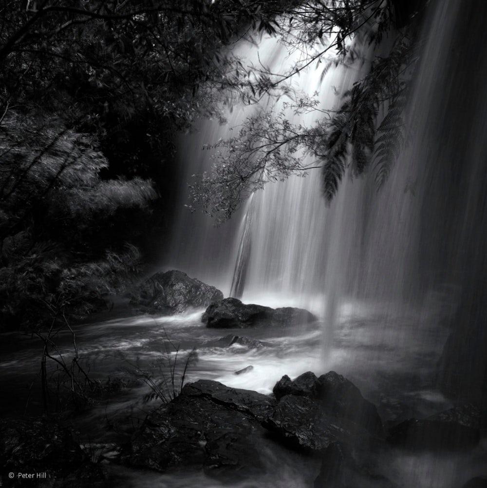 Chuva e cachoeiras