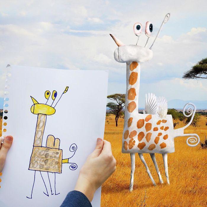 Girafa com asas