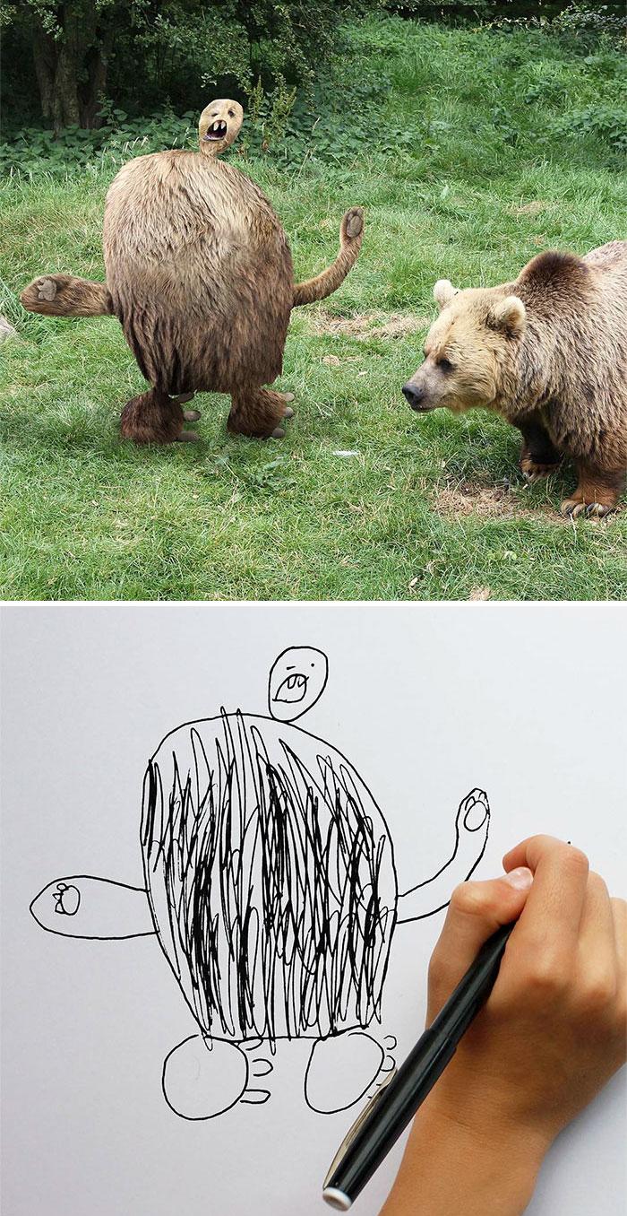 Urso assustador