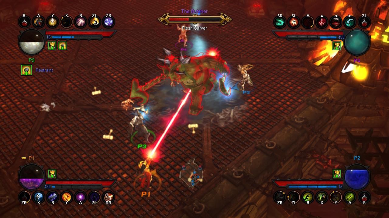 Jogadores no Diablo III de Nintendo Switch