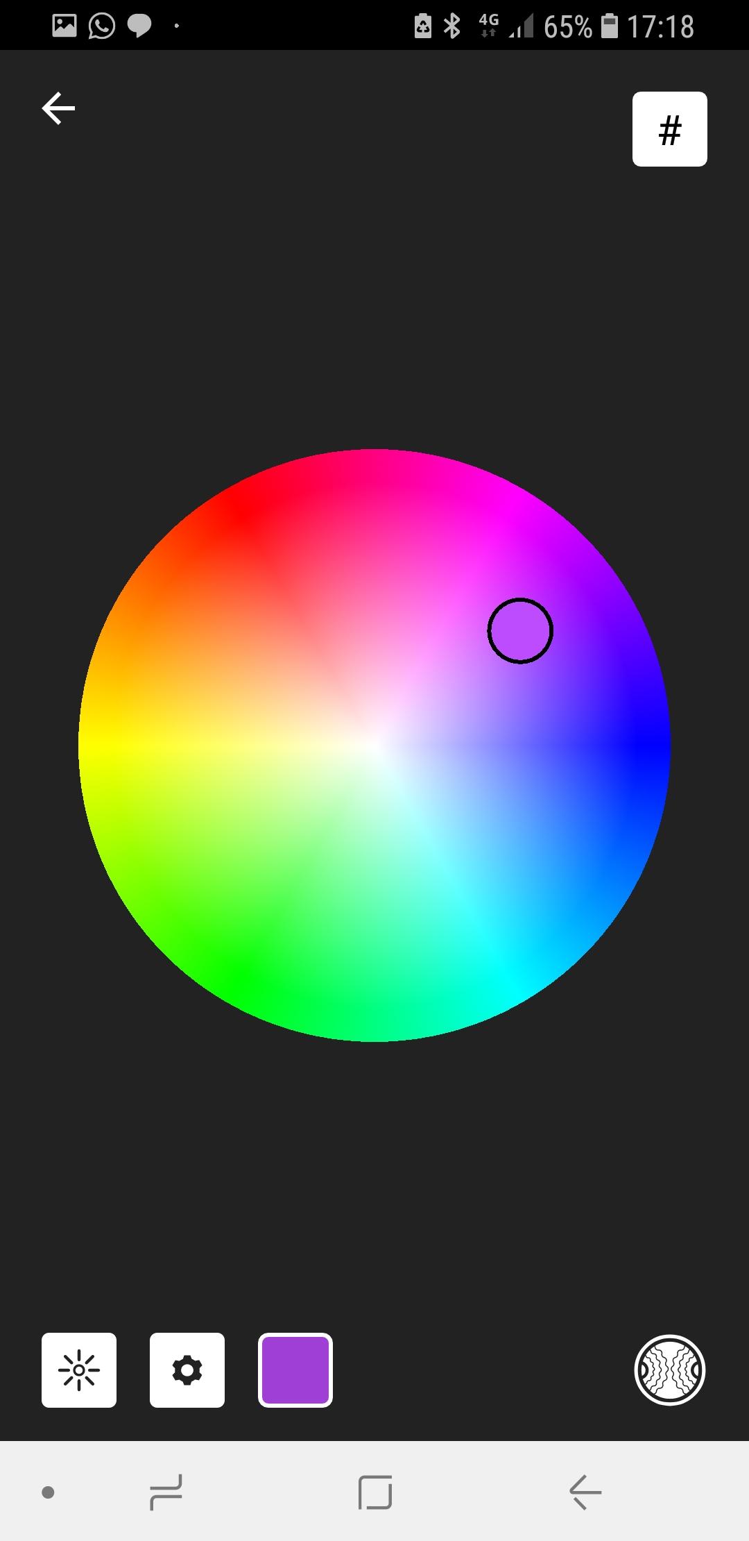 Escolha de cores e efeitos chroma