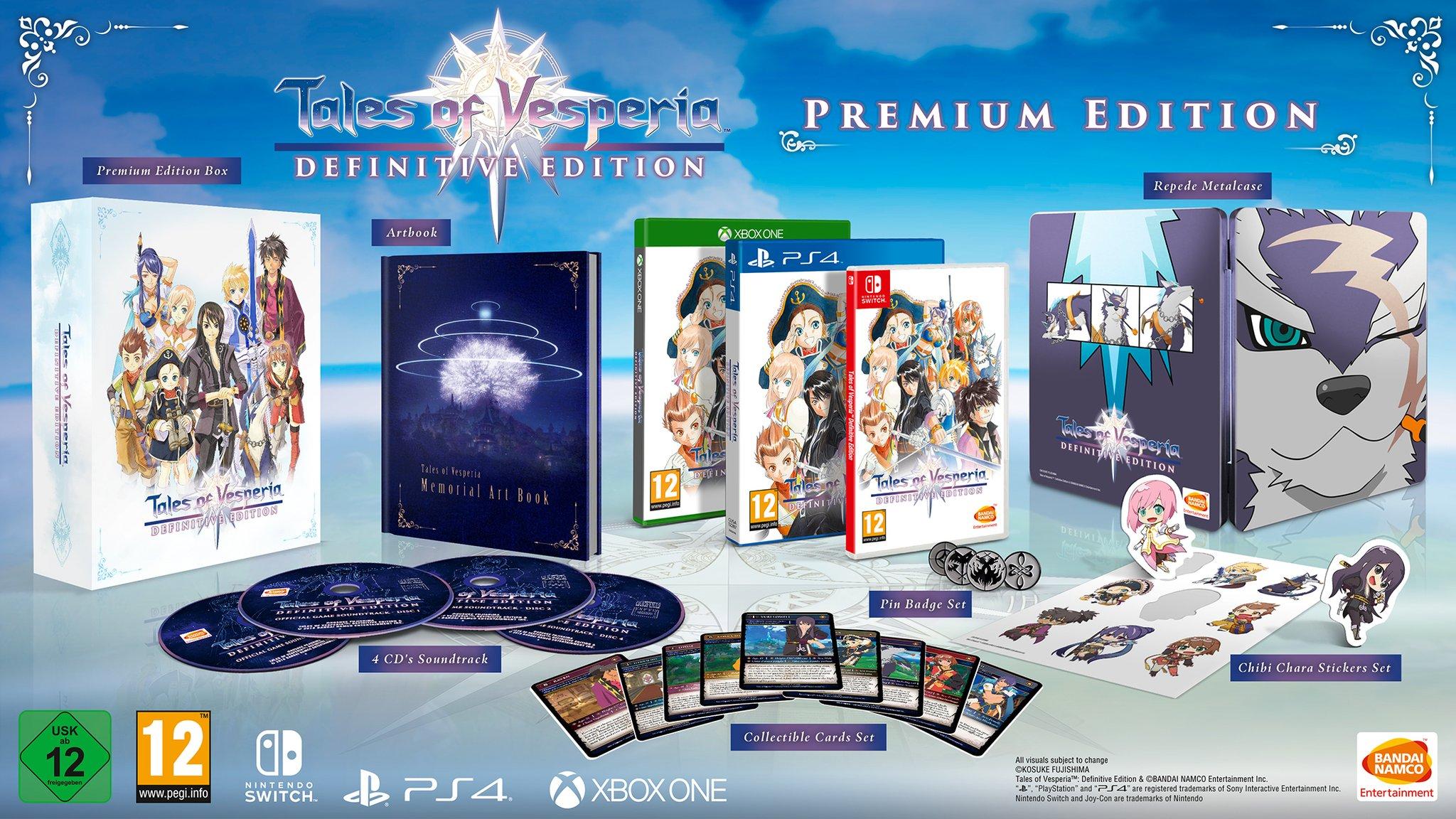 Tales of Vesperia: Definitive Edition ganhará duas versões de colecionador