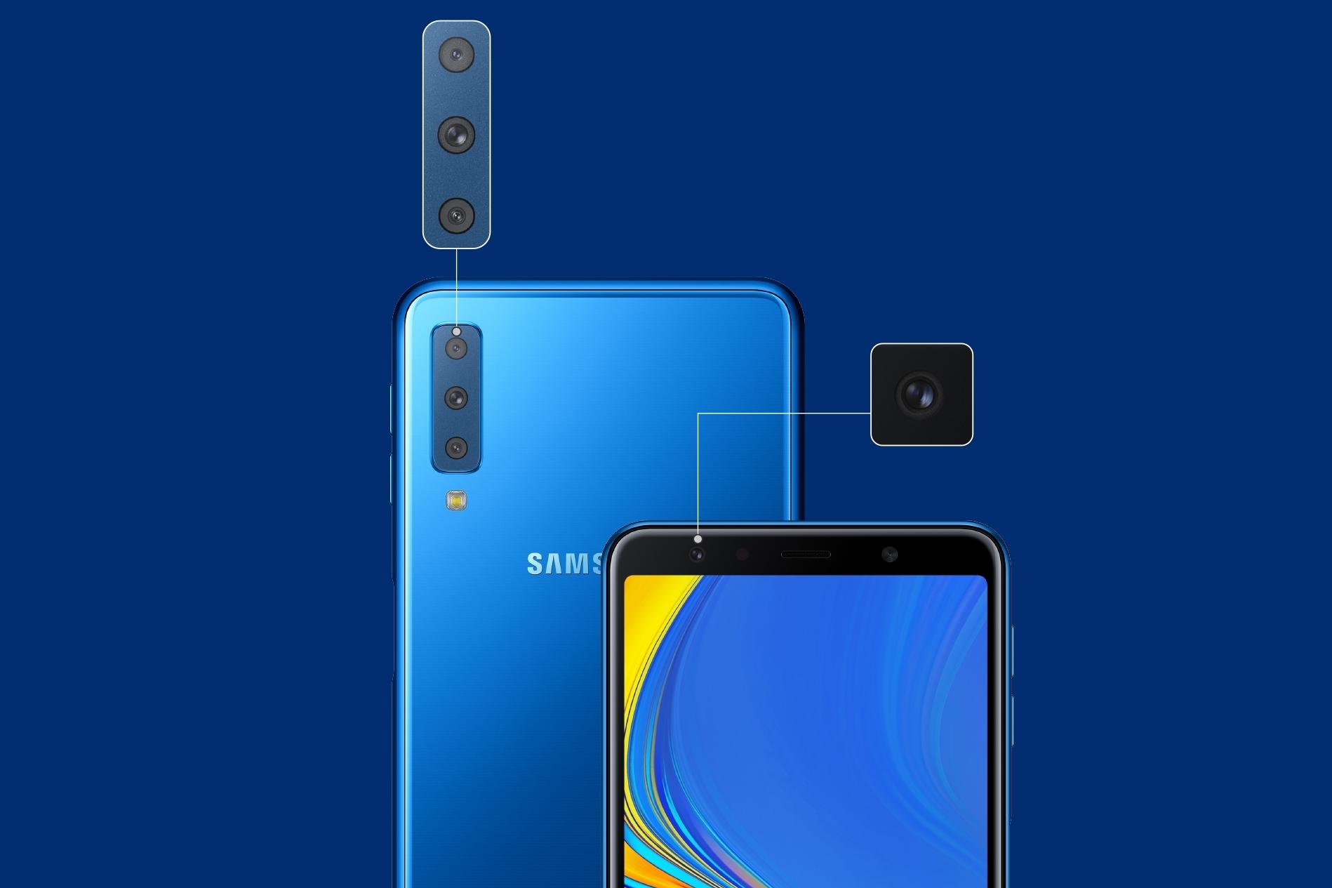 0acb3d7f8c Galaxy A7 (2018) é anunciado com câmera tripla e tela de 6 polegadas -  TecMundo
