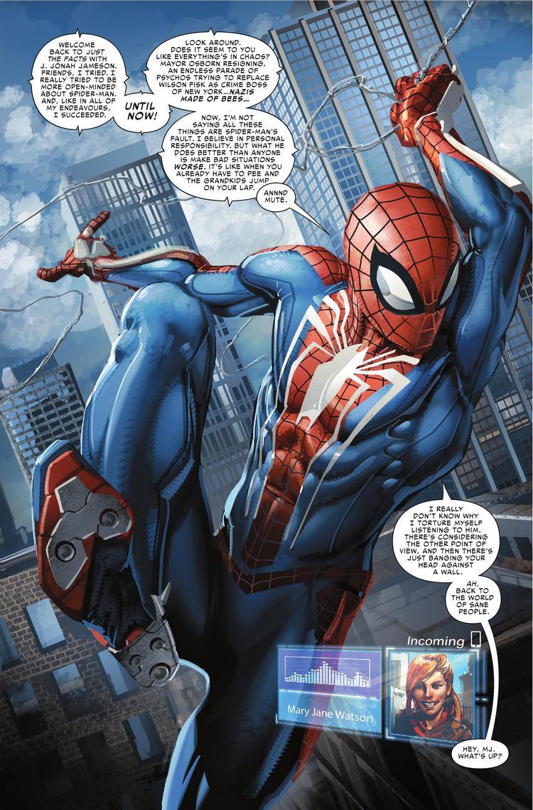 Spider-Man da Insomniac estará canonicamente nas HQs e ganha prévia
