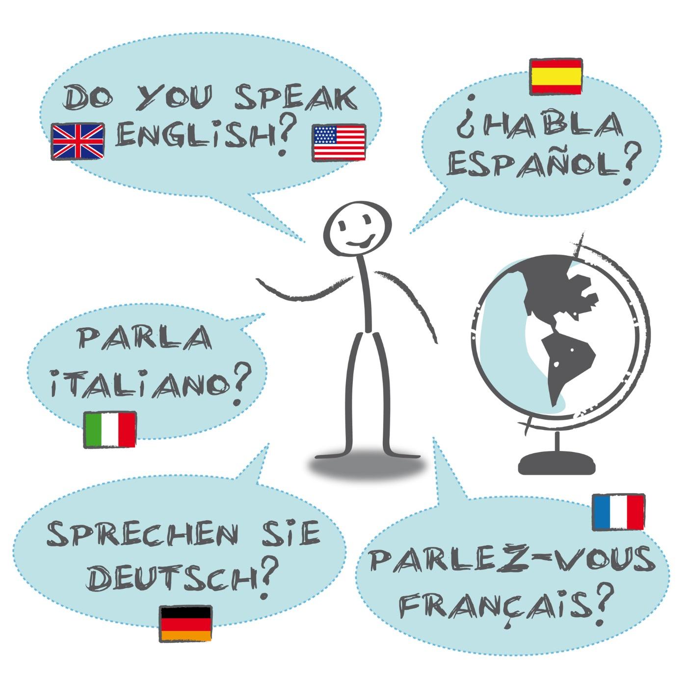 Diálogos em várias línguas