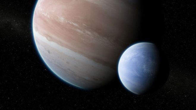 Planeta e sua Lua
