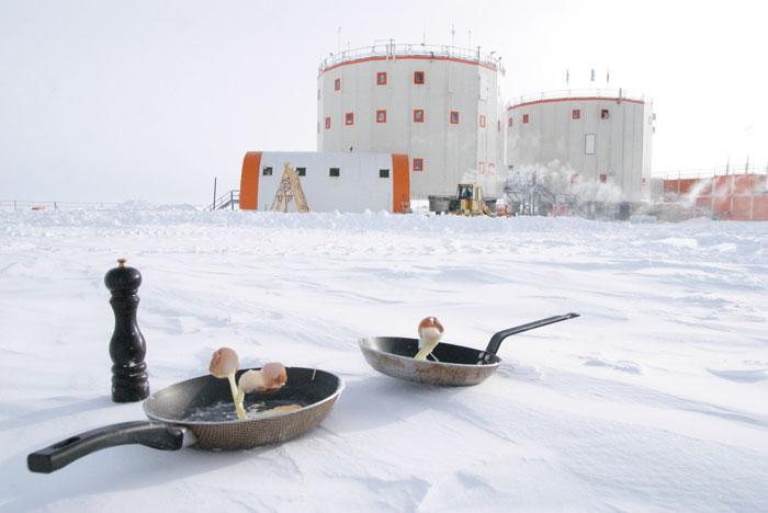 Cozinhando na Antártida