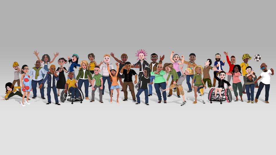 Editor de avatares do Xbox
