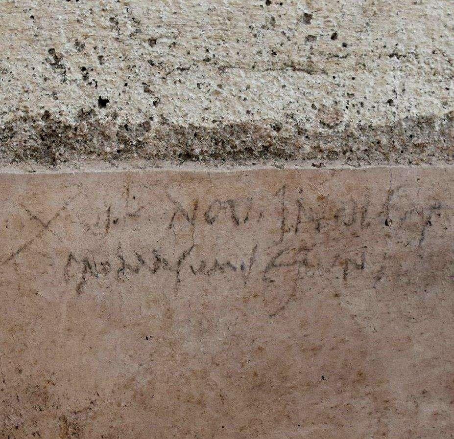 Mensagem em parede
