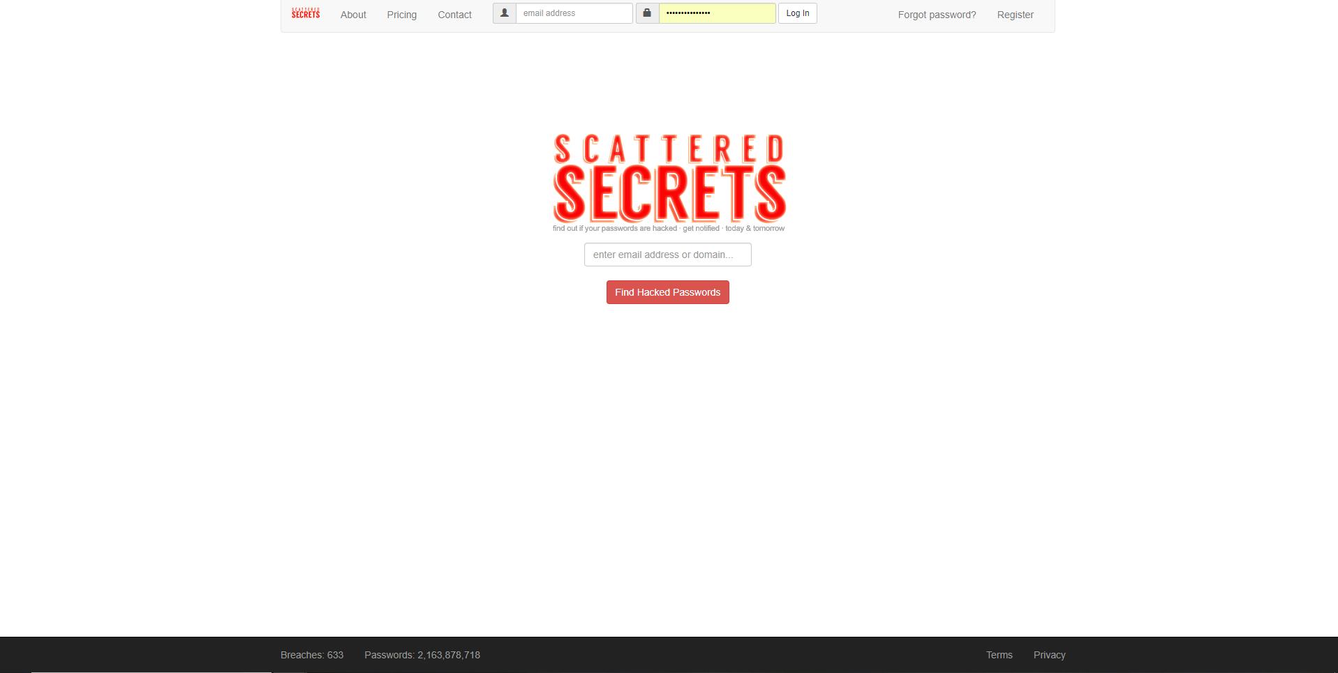 ScatteredSecrets - Imagem 1 do software