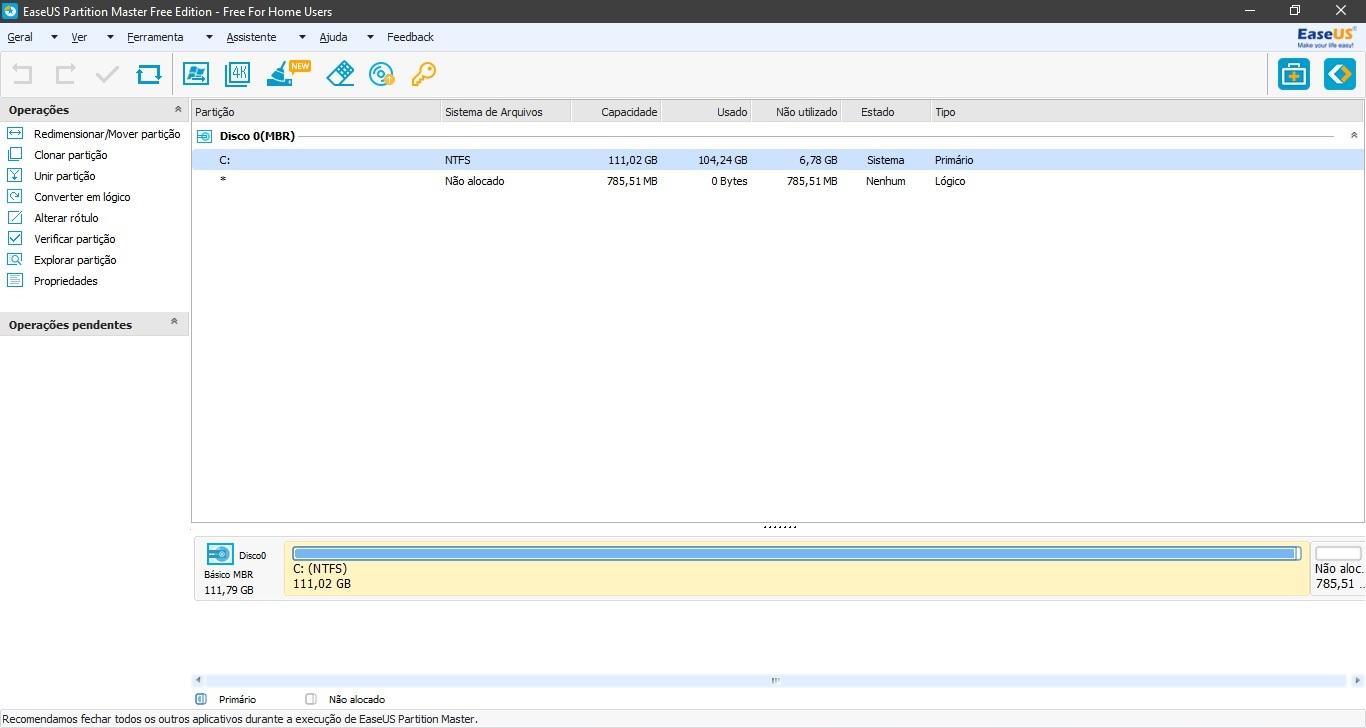 EaseUS Partition Master - Imagem 1 do software