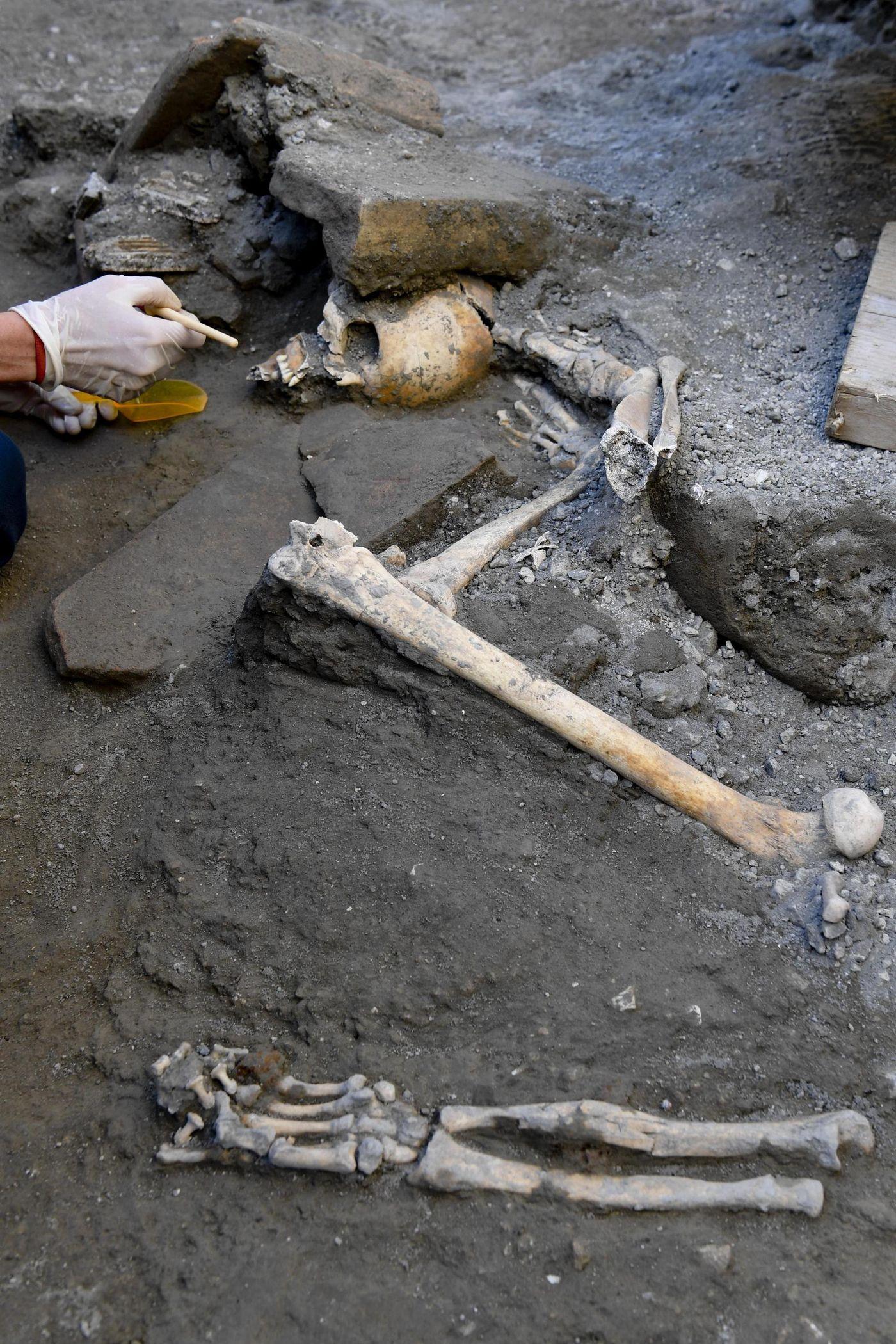 Esqueleto em Pompeia