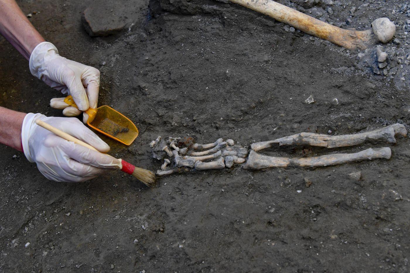 Esqueletos em Pompeia