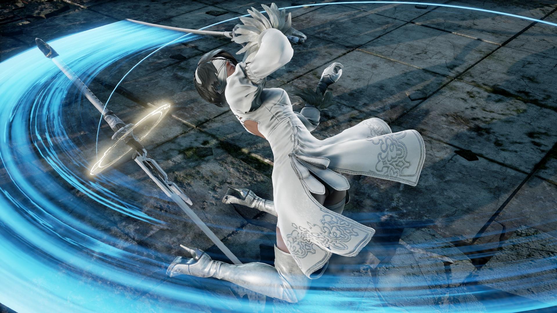 2B, de NieR: Automata, ganha diversas novas imagens em SoulCalibur VI